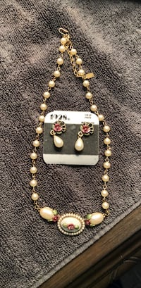 beaded white and brown necklace Leesburg