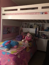 White wooden bunk bed with mattress Prince Frederick, 20678