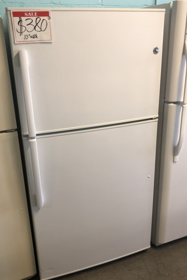 "GE 33"" top and bottom refrigerator 10% off  0"