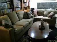Love seat, couch and coffee table