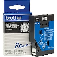 Brother TC201 Black on White 12 mm Tape for P-touch, 7.7 m Brant, N0E 1R0