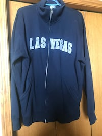 Navy blue LAS VEGAS zip up.