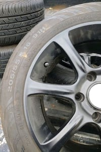 Set of 4 tires and rims for sale $220