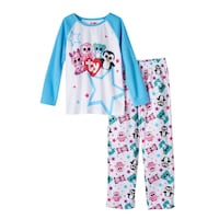 Girls TY Beanie Boos Zoey, Pink Leona & Waddles Raglan Pajama Set big eye size 4 North Highlands, 95660