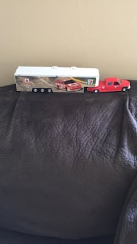 Red pickup truck with trailer die-cast model Damascus, 20872