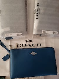 NWT Coach Leather Double Zip Wallet/Wristlet (Proof of Authenticity) Norfolk, 23503