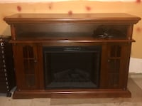 brown wooden framed electric fireplace Vienna, 22182
