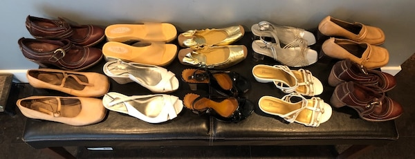 Bulk 13 pair shoe lot . Mostly size 7 , and 8 8