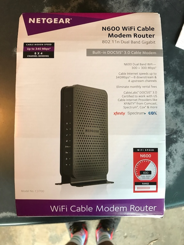 WiFi cable modem router Netgear