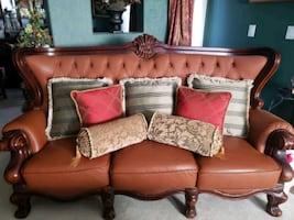 Leather Sofa-New Condition