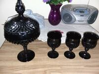 Ruby Red or Cape Cod Candy Dish & Goblets