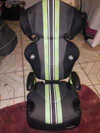 gray and black EvenFlo booster seat