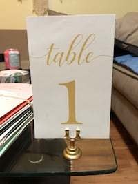 Table Numbers & Card Holders  Richmond, V6Y