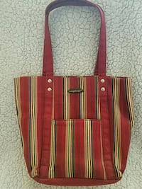 red and green striped tote bag Little River, 29566