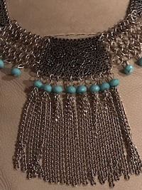 blue and black beaded necklace Vancouver, V6H 1S7