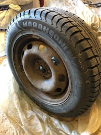 Selling 4 winter tires on rims.    Aurora, L4G 5K6