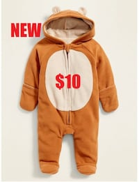 NEW Bear Onesie Size 18M - 24M Fleece Suit Outerwear Hoodie - PERFECT FOR THE COLD WEATHER New  Ventura