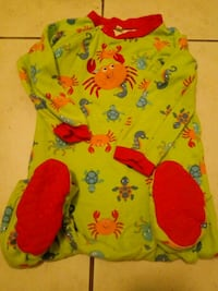 baby's green and orange floral onesie Kitchener, N2H 2X4