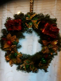 red and green Christmas wreath Levittown, 11756