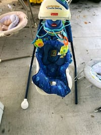 blue and green Fisher-Price cradle n swing Gibsonton