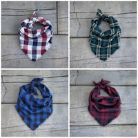 Plaid dog bandanas Barrie, L4M 7E8