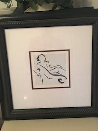 naked woman sitting on chair sketch with black wooden frame Fairfax, 22033