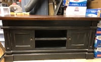 black wooden TV stand with cabinet NEWYORK