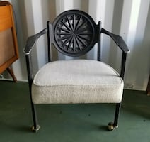 Antique Rod Iron Patio Chair