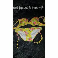 women's yellow-and-red floral bikini Charleston, 25306