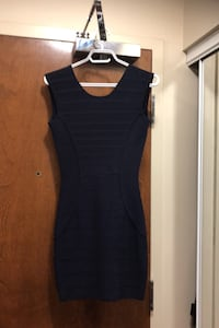 Marciano Navy Blue Dress with Low Back