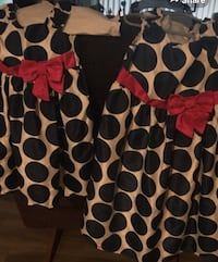 black, white, and red polka dot skirt San Jose, 95123