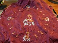 Gorgeous Hand Embroidered Elephant Comforter Set Made in India! Sudbury