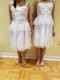 Brand new girl white dresses size 1 to 8 Vaughan, L6A 3L9