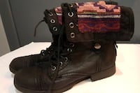 womens fold down combat boots size 7-1/2 Hamilton