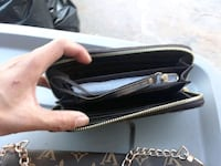 black and gray leather crossbody bag Los Angeles, 90027