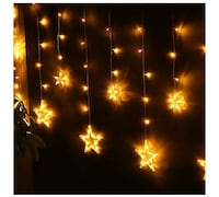 $35 NEW Curtain Star String Lights 138 LED 8.2ft S