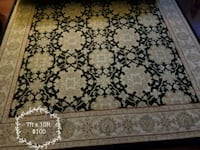 brown and black floral area rug Chantilly, 20152