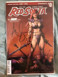 Red Sonja Comic #0 Bam! Box Exclusive Edition Signed by AMY CHU Brant, N0E 1R0