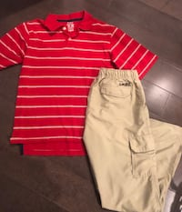 Boys size 14/16 outfit ~ quicksilver cargo pants & polo shirt
