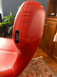 Red Leather Bar Stool