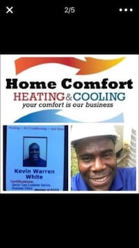Home comfort heating & cooling poster screenshot Laurel, 20707