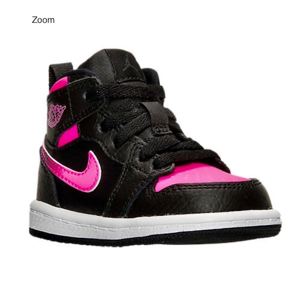 competitive price 693ef 5dd6d NIKE Girls' Toddler Jordan Retro 1 High Basketball Shoes Black/Hyper  Pink/White Kids,Jordan Space Ja