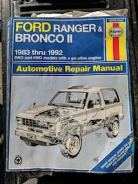 Haynes manual for Ford Ranger and Bronco 2