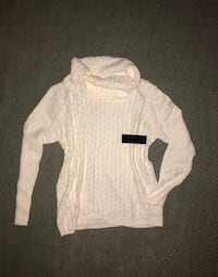 NWT off white cowl neck sweater, large Houston, 77034