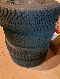 Winter Tires - 95% New GoodYear Nordic with Rims Mississauga, L5N 7R4