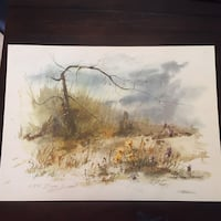 Print signed by local artist Howell