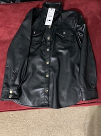 Zara leather jackets tops