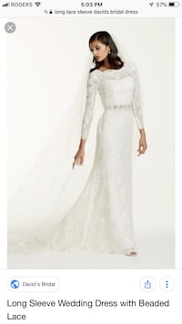 David's bridal lace long sleeve dress new with tags  Toronto, M8Y 0A7