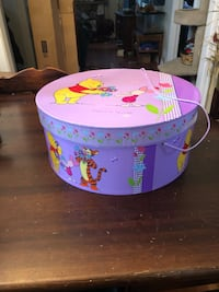 Winnie the pooh large storage container/hat box
