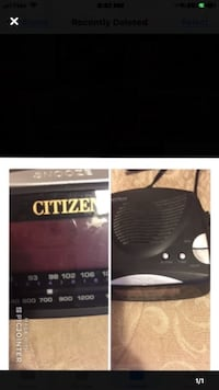 Citizen Alarm Radio Clock Toronto, M4A 2K5